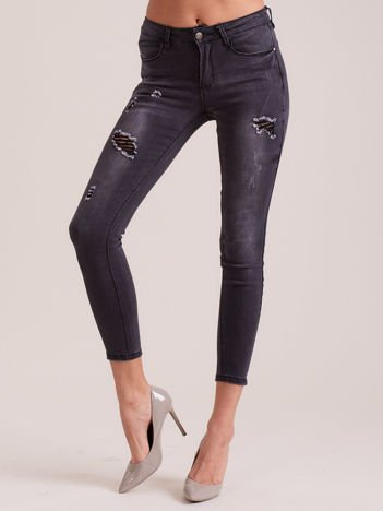 Ciemnoszare jeansy skinny