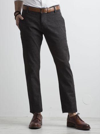 Ciemnoszare męskie spodnie chino