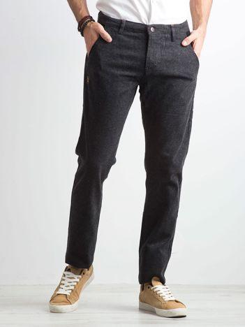 Ciemnoszare męskie spodnie regular fit