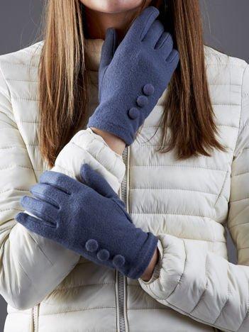Ciemnoszare rękawiczki z guzikami
