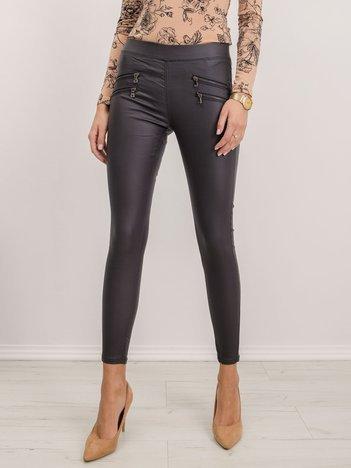 Ciemnoszare spodnie Clara