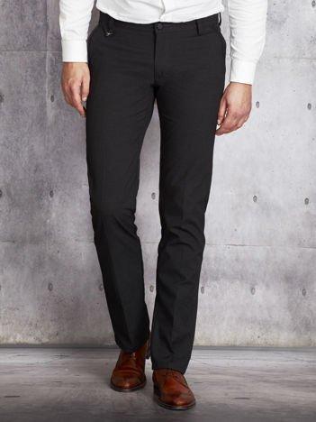 Ciemnoszare spodnie męskie stright