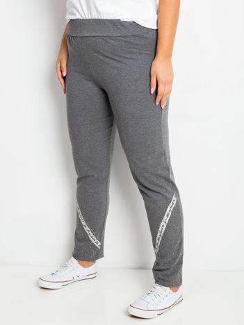 Ciemnoszare spodnie plus size Active