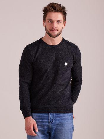 Ciemnoszary dzianinowy sweter męski