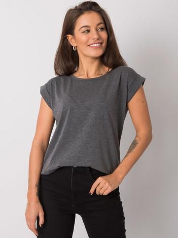 Ciemnoszary melanżowy t-shirt Revolution