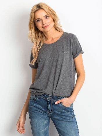 Ciemnoszary melanżowy t-shirt Transformative