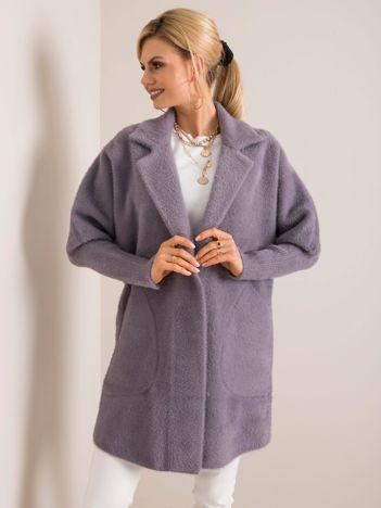 Ciemnoszary płaszcz alpaka Nora