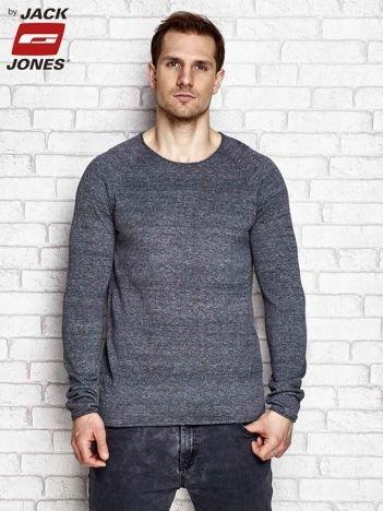 Ciemnoszary sweter męski melange