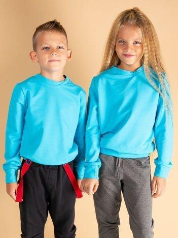 Ciemnoturkusowa bluza młodzieżowa