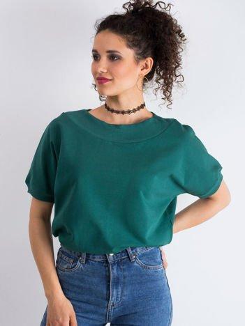 Ciemnozielona bluzka Lemontree