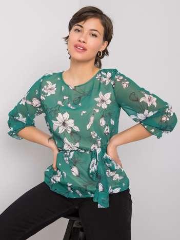 Ciemnozielona bluzka Louise
