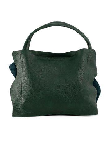 Ciemnozielona miękka torba z ekoskóry