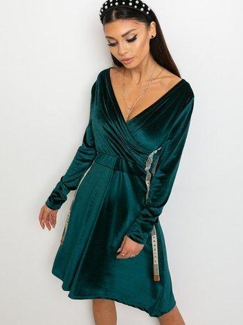 Ciemnozielona sukienka Velvet