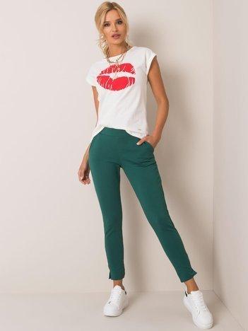 Ciemnozielone spodnie Nina
