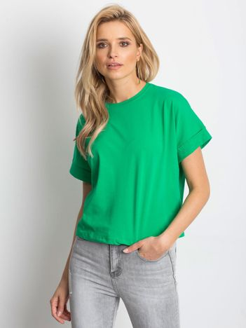 Ciemnozielony t-shirt Woodland