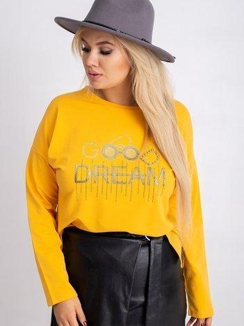Ciemnożółta bluza plus size Denver