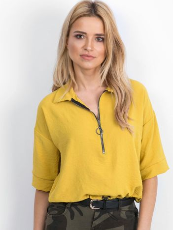 Ciemnożółta bluzka Hokum