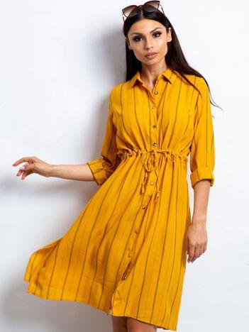 Ciemnożółta sukienka Recall
