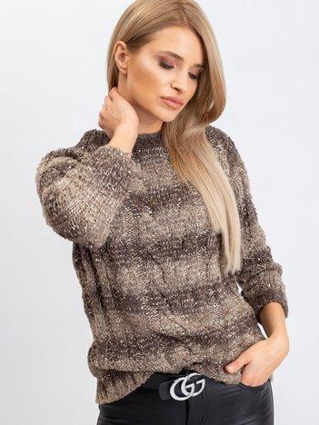 Ciemny khaki sweter Amelia