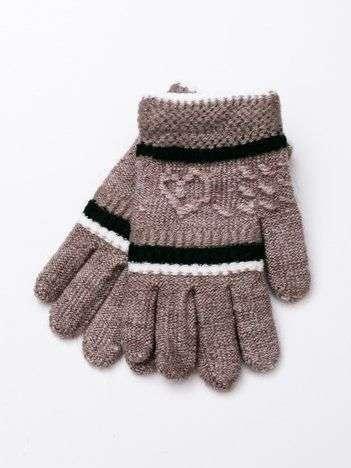Cieplutkie dzieciece rękawiczki z wełnianą wyściółką 12,5cm (2-5 lat)