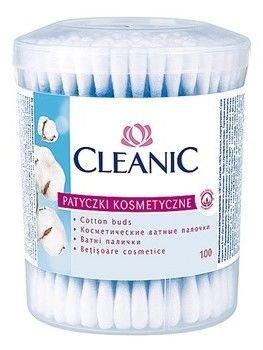 Cleanic Patyczki higieniczne Pudełko okrągłe 1op.-100 szt