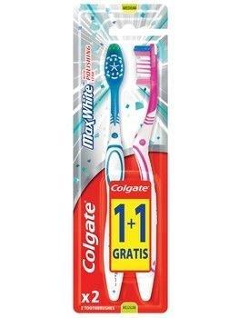 Colgate Szczoteczka do zębów Max White średnia 1+1 Gratis