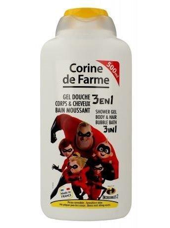 Corine de Farme Żel myjący dla dzieci 3 w 1 Incredibles 2  500 ml