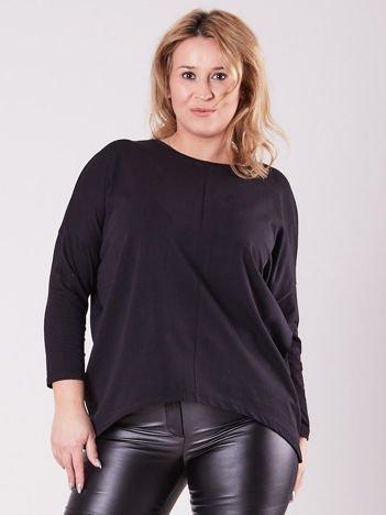 Czarna asymetryczna bluzka damska PLUS SIZE