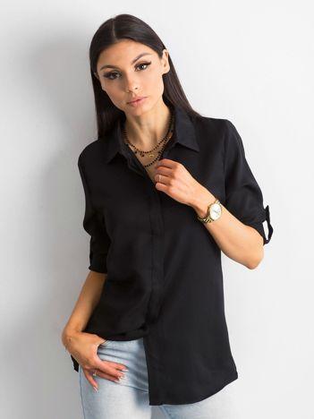 Czarna bawełniana koszula
