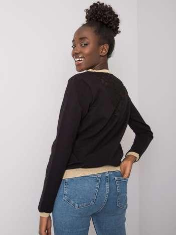 Czarna bluza bawełniana z koronką Trinny