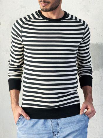 Czarna bluza męska w paski