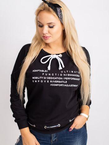 Czarna bluza plus size Aspiration