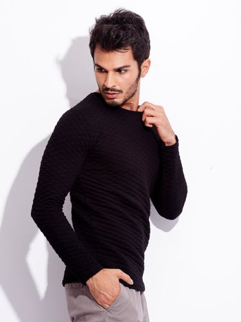 Czarna bluzka dla mężczyzny z długim rękawem