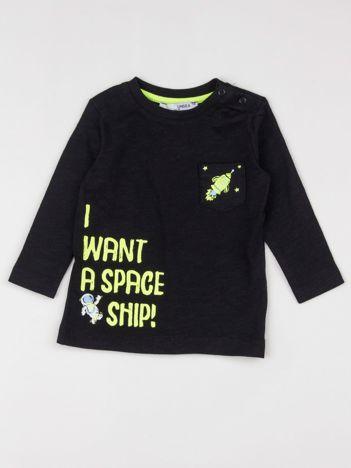 Czarna bluzka dziecięca z nadrukiem