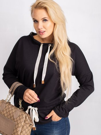 Czarna bluzka plus size Khloe