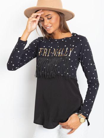 Czarna bluzka w gwiazdki