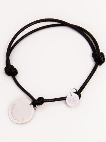 Czarna damska bransoletka z najlepszej jakości STALI CHIRURGICZNEJ 316L