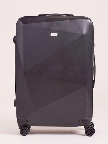 Czarna duża walizka twarda