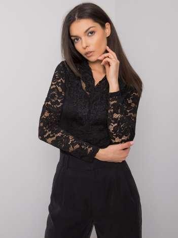 Czarna elegancka bluzka koronkowa Lancaster OCH BELLA