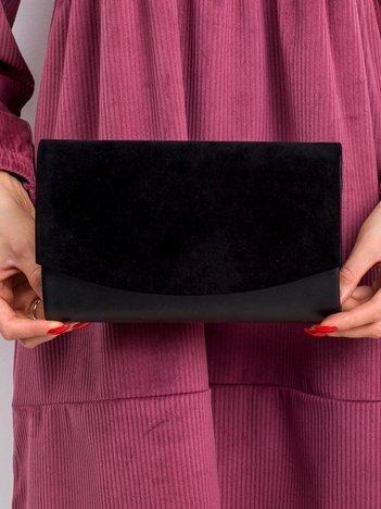 Czarna kopertówka z eco skóry