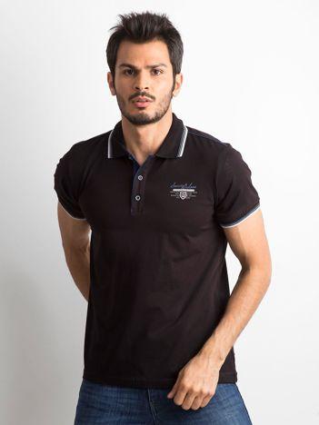 Czarna koszulka polo dla mężczyzny