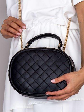 Czarna kuferkowa torebka