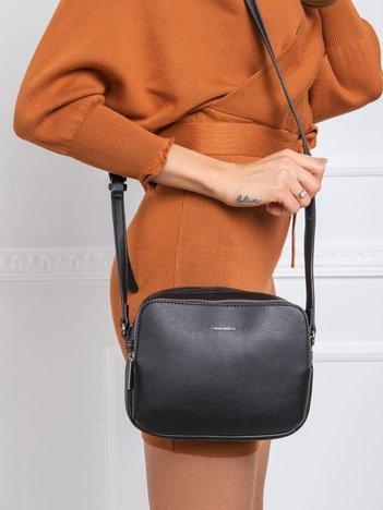 Czarna mała torebka listonoszka