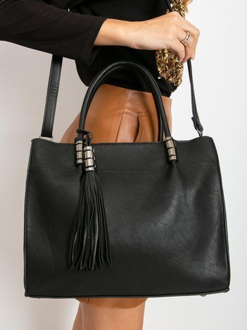 Czarna mała torebka z eko skóry