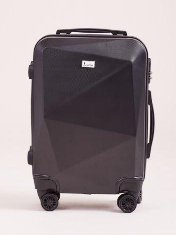 Czarna mała walizka kabinowa twarda