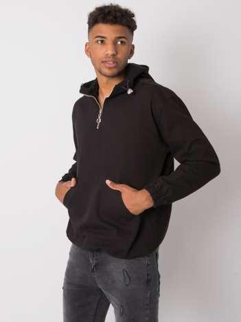 Czarna męska bluza z kapturem Issac