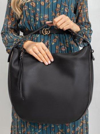 Czarna półokrągła torba
