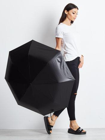 Czarna składana parasolka