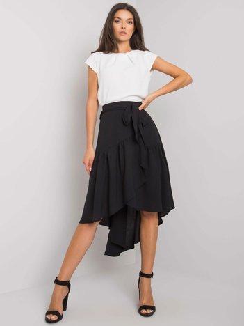 Czarna spódnica z paskiem Keoni RUE PARIS