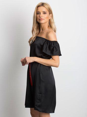 f000467c43 Czarna sukienka Satinelle